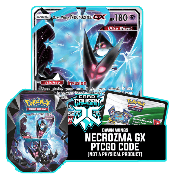 Necrozma Prism Tin: Dawn Wings Necrozma GX - Wings of Dawn Deck - PTCGO Code - Card Cavern