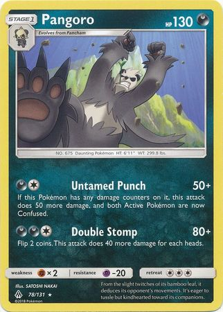 Pangoro - 78/131 - Forbidden Light - Card Cavern