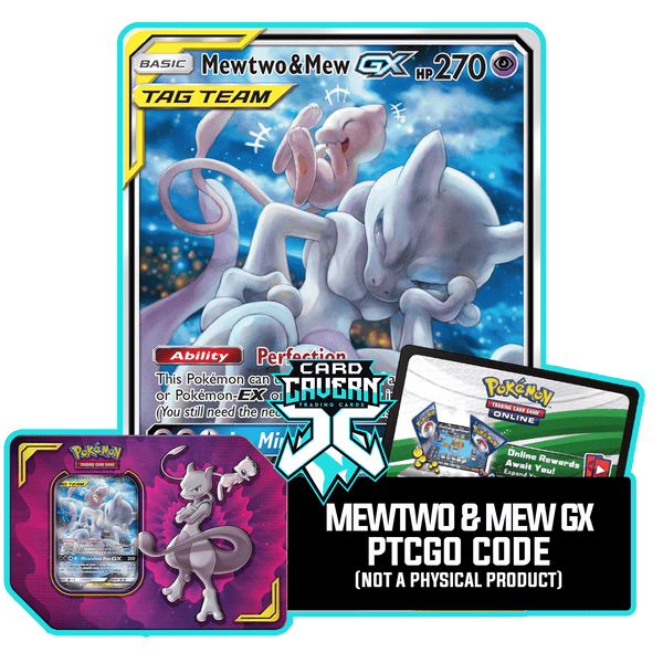 Power Partnership Tin: Mewtwo & Mew-GX - PTCGO Code - Card Cavern