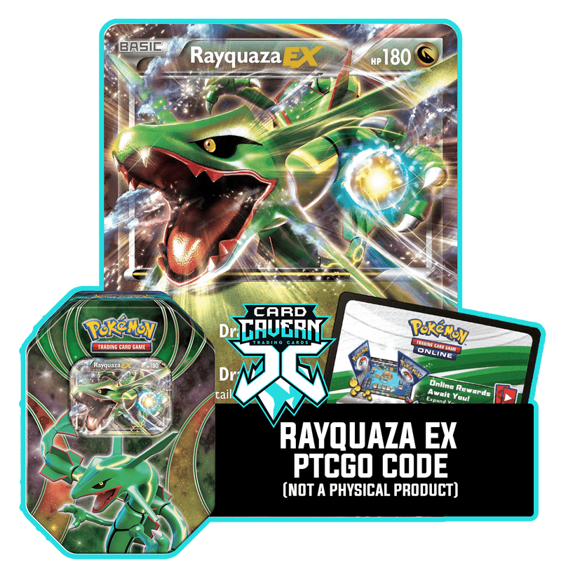 Powers Beyond Tin: Rayquaza EX - Dragon Striker Deck - PTCGO Code - Card Cavern