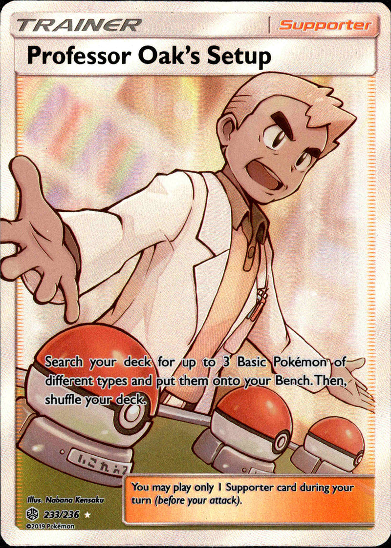 Full Art Ultra Rare Near Mint Sun /& Moon 233//236 Professor Oak/'/'s Setup