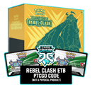 Rebel Clash ETB - Copperajah V - Sleeves and Deck Box PTCGO Code - Card Cavern