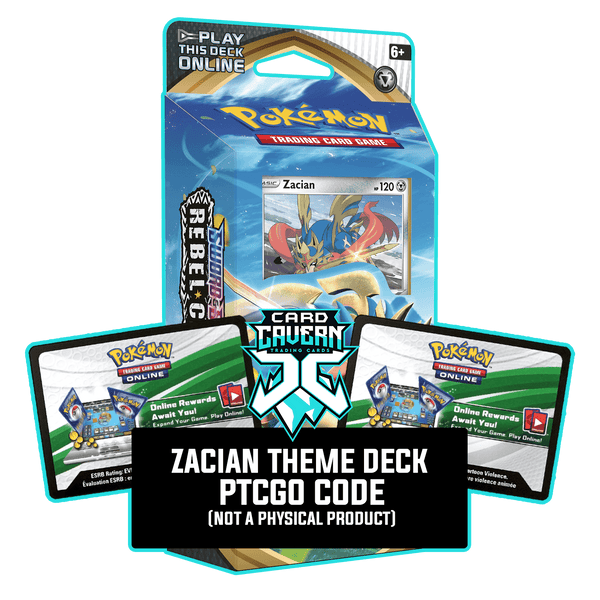 Zacian Theme Deck - Rebel Clash - PTCGO Code - Card Cavern