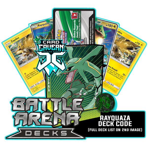 Battle Arena Decks: Rayquaza GX PTCGO Code - Card Cavern