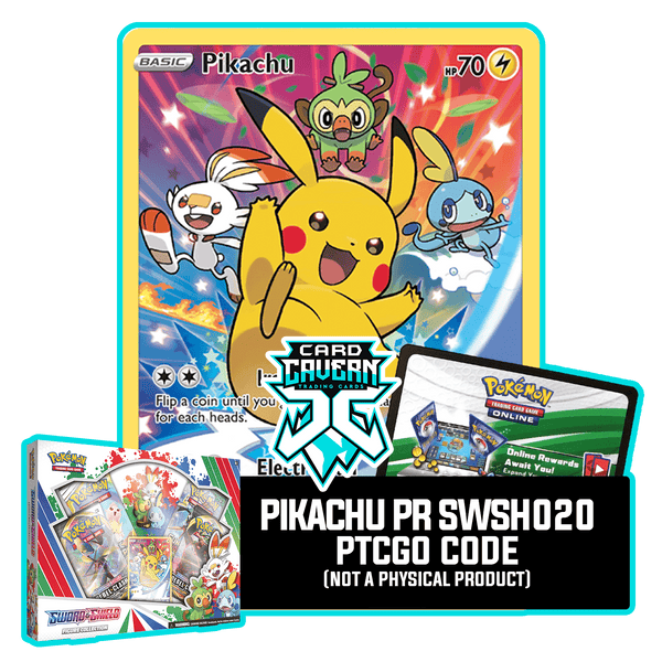 Sword & Shield Figure Collection - Pikachu SWSH020 - PTCGO Code - Card Cavern