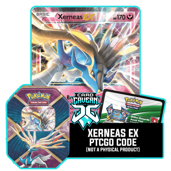 Shiny Kalos Tin: Xerneas EX - Rainbow Team Deck - PTCGO Code - Card Cavern