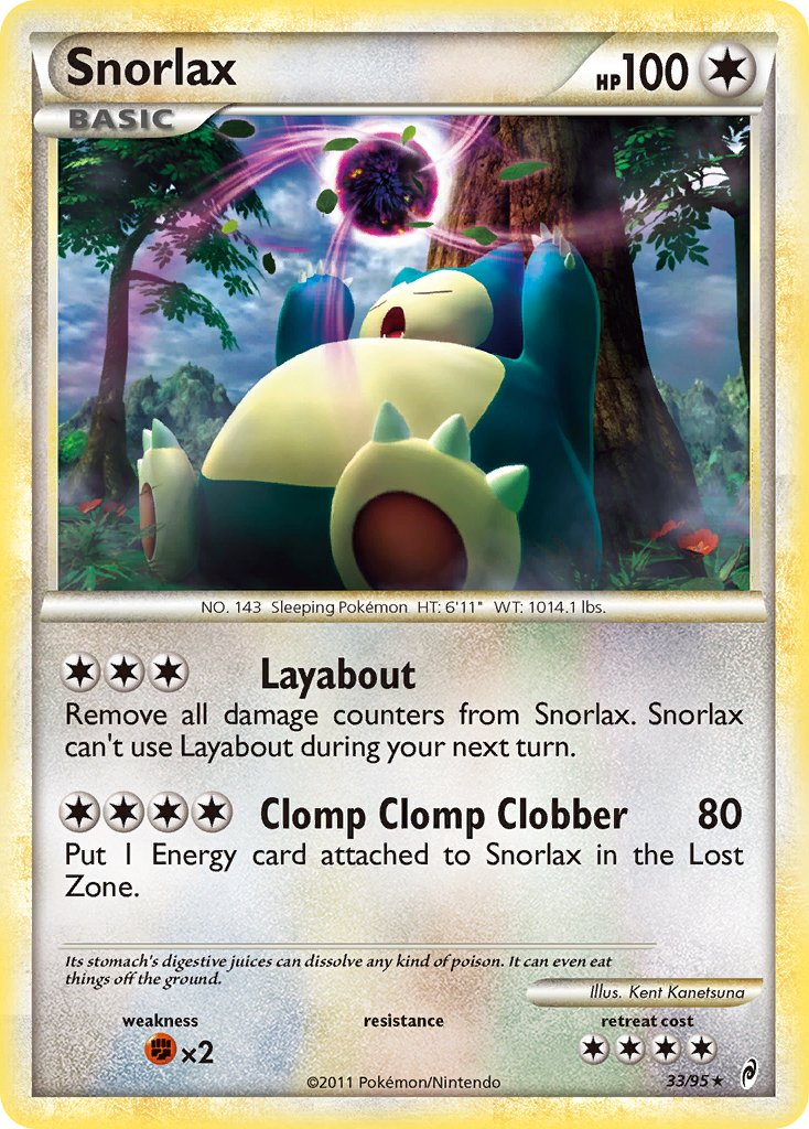 Snorlax - 33/95 - Call of Legends - Card Cavern