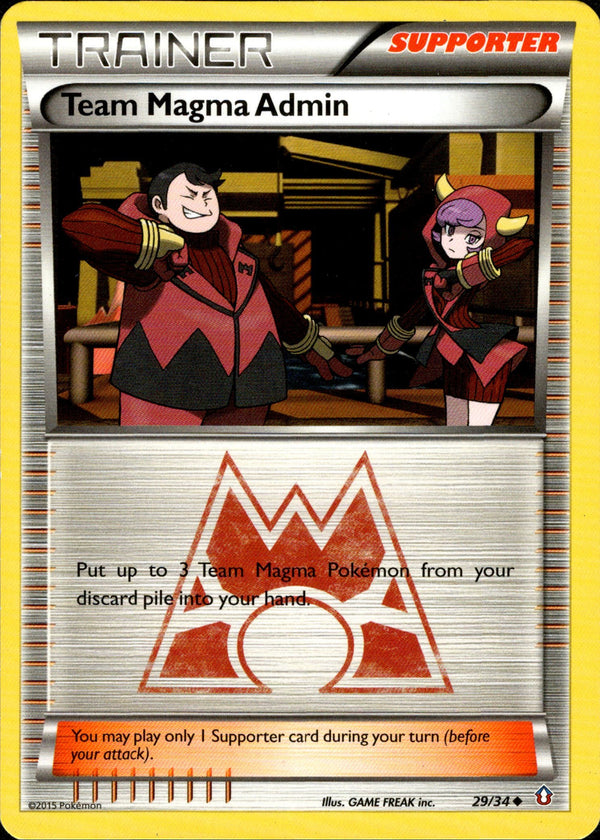 Team Magma Admin - 29/34 - Double Crisis - Card Cavern