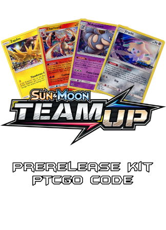Team Up Prerelease Kit - 1 of 4 promos - PTCGO Code - Card Cavern