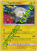 Togedemaru SM09 PTCGO Code - Card Cavern