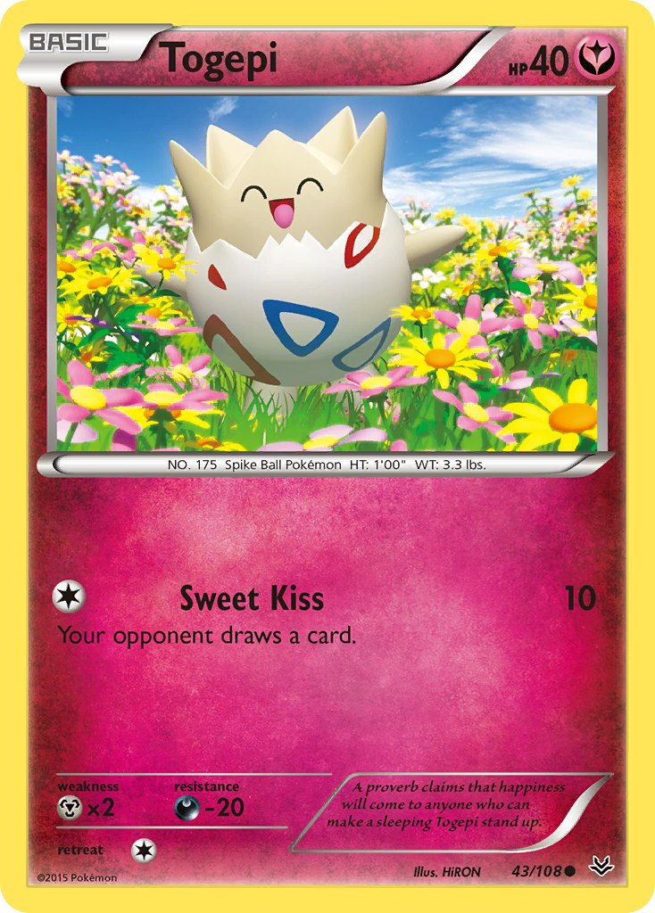 Togepi - 43/108 - Roaring Skies - Card Cavern