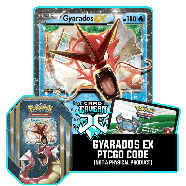Triple Power Tin: Gyarados EX - Magikarp's Revenge Deck - PTCGO Code - Card Cavern