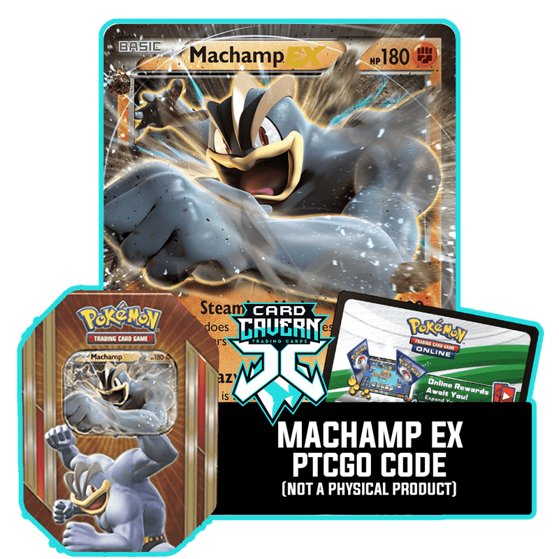 Triple Power Tin: Machamp EX - Four-Armed Fury Deck - PTCGO Code - Card Cavern