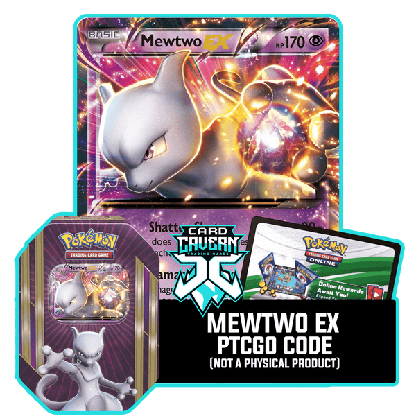 Triple Power Tin: Mewtwo EX - Psychic Staredown Deck - PTCGO Code - Card Cavern