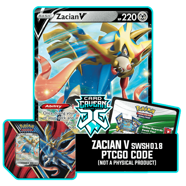 Legends of Galar Tin  Zacian V - PTCGO Code - Card Cavern