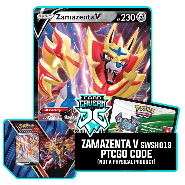 Legends of Galar Tin Zamazenta V - PTCGO Code - Card Cavern