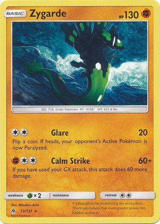 Zygarde - 72/131 - Forbidden Light - Card Cavern