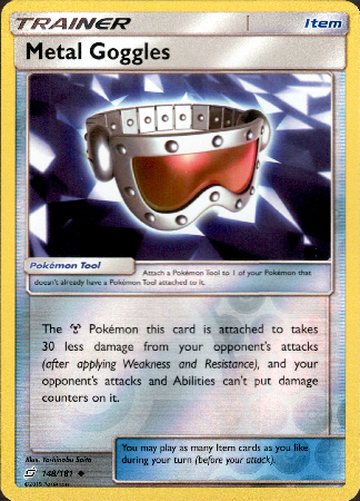 Metal Goggles - 148/181 - Team Up - Reverse Holo - Card Cavern