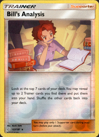 Bill's Analysis - 133/181 - Team Up - Reverse Holo - Card Cavern