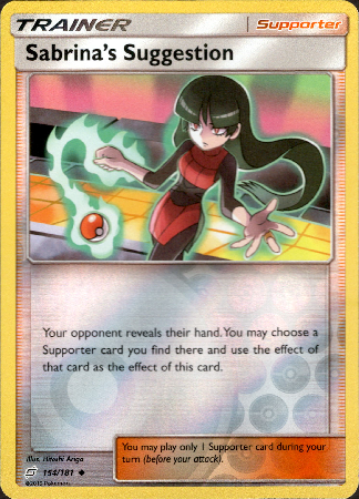 Sabrina's Suggestion - 154/181 - Team Up - Reverse Holo - Card Cavern