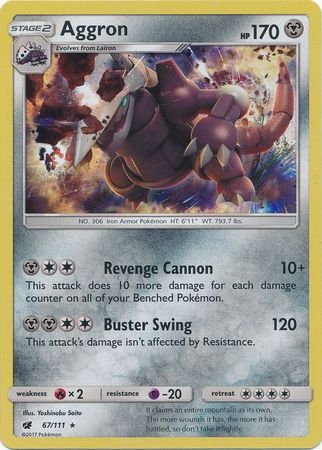Aggron - 67/111 - Crimson Invasion - Holo - Card Cavern