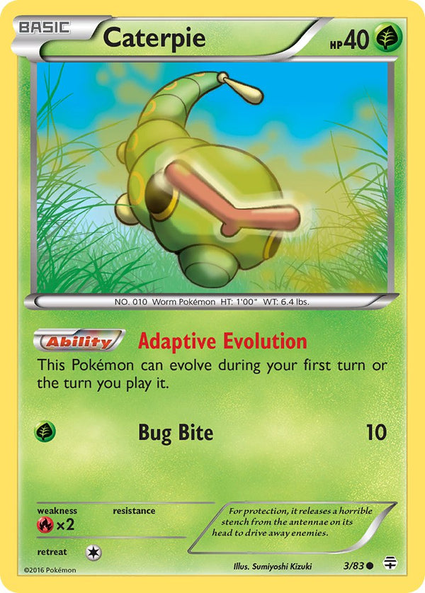 Caterpie - 3/83 - Generations - Card Cavern