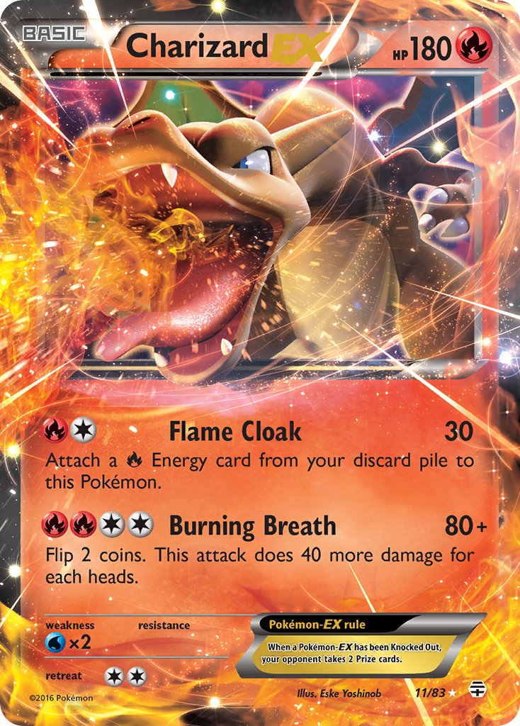 Charizard EX - 11/83 - Generations - Card Cavern