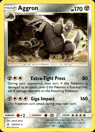 Aggron - 125/214 - Unbroken Bonds - Card Cavern