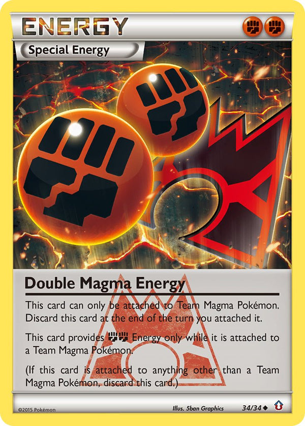 Double Magma Energy - 34/34 - Double Crisis - Card Cavern