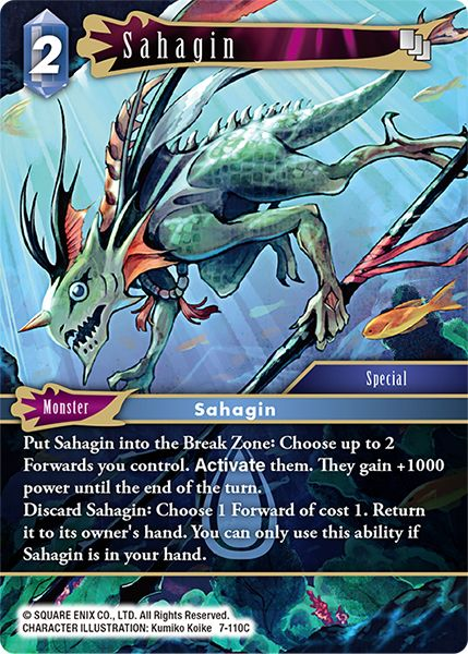 Sahagin - 7-110C - Opus VII - Foil - Card Cavern