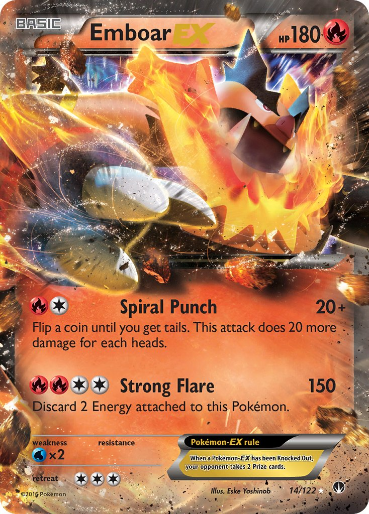 Emboar EX - 14/122 - BREAKpoint - Card Cavern