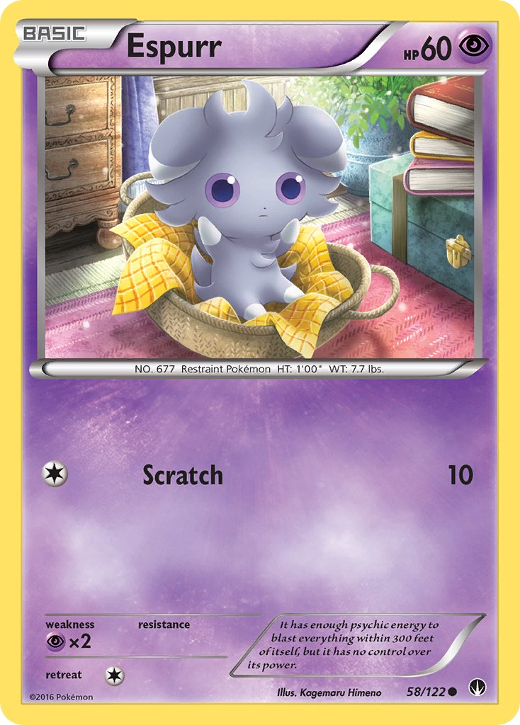 Espurr - 58/122 - BREAKpoint - Card Cavern