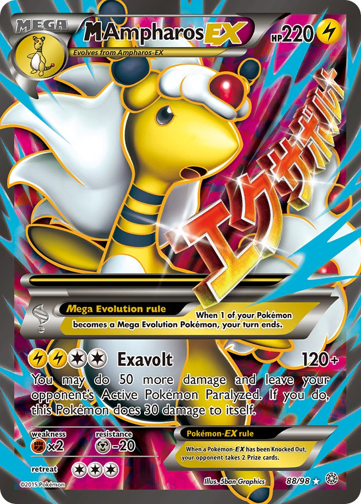 M Ampharos EX Full Art - 88/98 - Ancient Origins - Card Cavern