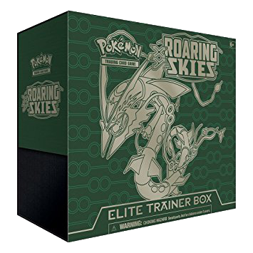 Roaring Skies ETB - Rayquaza - Sleeves and Deck Box - PTCGO Code - Card Cavern