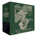 Roaring Skies ETB - Rayquaza - Sleeves and Deck Box - PTCGO Code