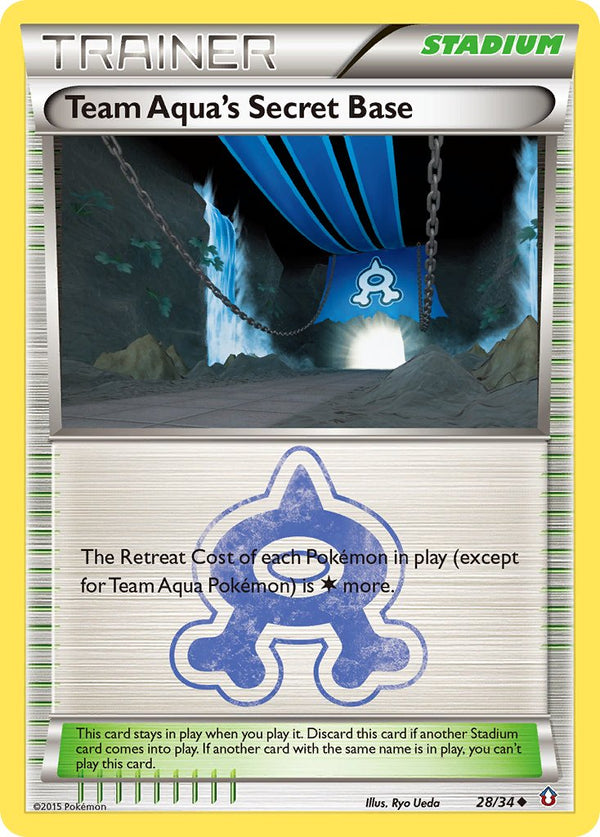 Team Aqua's Secret Base - 28/34 - Double Crisis - Card Cavern