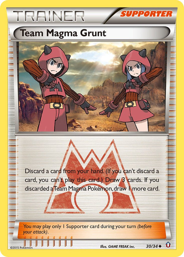 Team Magma Grunt - 30/34 - Double Crisis - Card Cavern