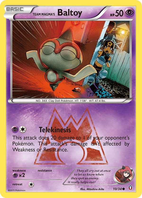 Team Magma's Baltoy - 10/34 - Double Crisis - Card Cavern