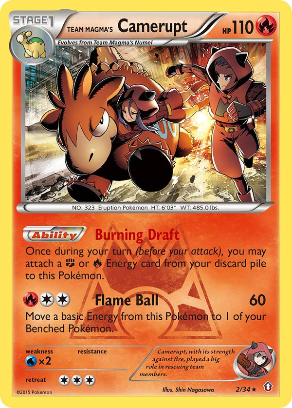 Team Magma's Camerupt - 2/34 - Double Crisis - Holo - Card Cavern
