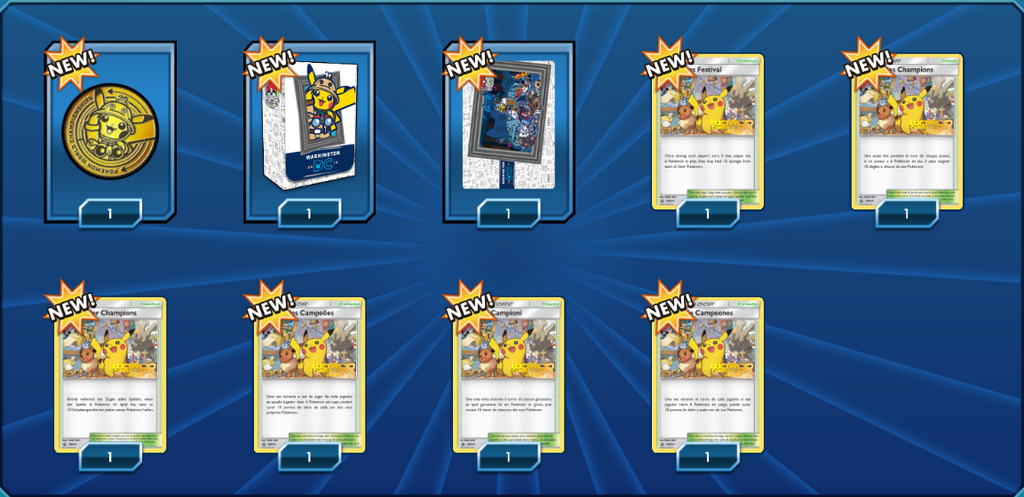 2019 World Championship Welcome Kit - Sleeves, Deck Box, and  Champions Festival - PTCGO Code