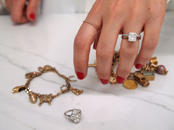 Natasha's engagement ring and the vintage ring