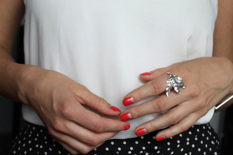 nails and silver ring