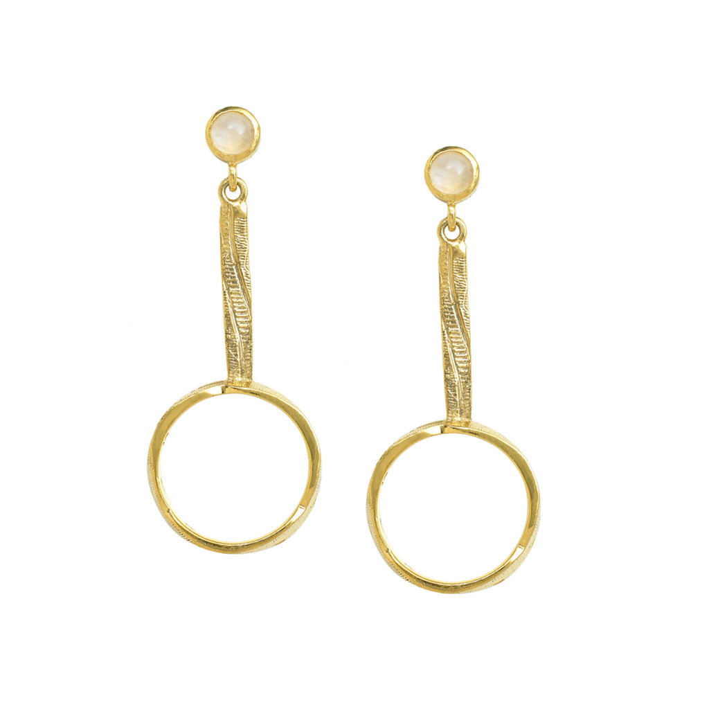 Portobello Drop Hoop Earrings