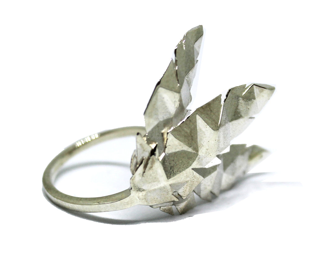 Triple Feather Sterling Silver Ring