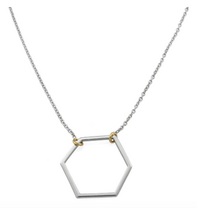 Hexi Two-Tone Necklace