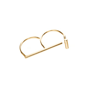 Intersect Double Finger Ring