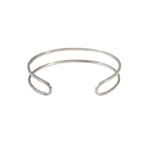 Silver Double Row Bangle