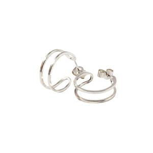 Double Row Hoop Earrings