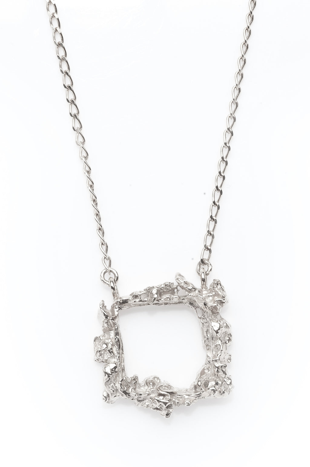 Silver Frame Necklace
