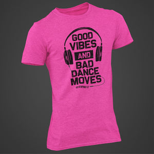 BAD DANCE MOVES T-SHIRT PINK
